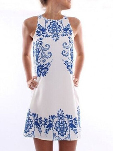 Summer Dress With Mirror Print