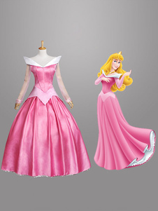 Traje  de Rosa de Halloween princesa traje Cosplay feminino de beleza a dormir Halloween