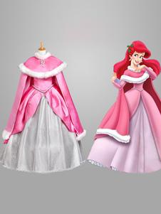 Costume Carnevale Carnevale Sleeping Beauty Costume Rosa per Ragazze Costume Cosplay da Principessa