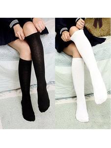 Cosplay de meias para meninas sólido de alta qualidade Halloween