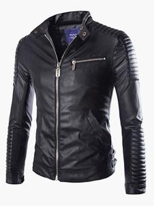 Moda PU pelle giacca per gli uomini