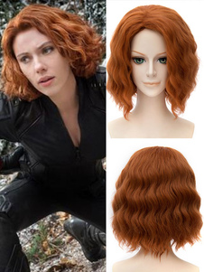 Carnevale Captain America Black Widow Cosplay Parrucca Marvel's The Avengers Carnevale Cosplay Costume Carnevale