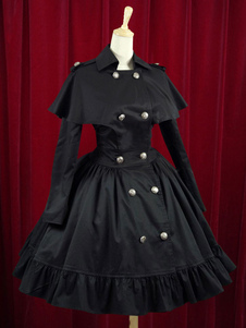 Wasp-waisted Elegant Cotton Buttons Lolita Dress