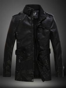 Giacca da moto uomo 2020  in pelle con fibbia in metallo