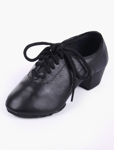 Алмонд мыс мягкой подошвы PU кожа качества танцевальная обувь для детей