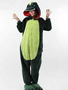 Disfraz Carnaval Dos tonos Animal Kigurumi traje del dinosaurio de la impresión Halloween Carnaval