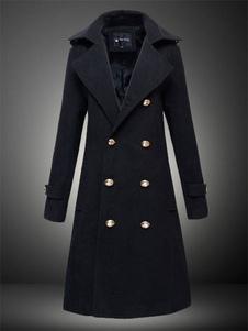 Trench da uomo, cappotto doppiopetto invernale, soprabito doppiopetto