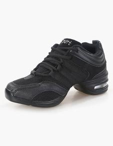 أحذية الجاز الأسود جولة اصبع القدم الرباط حتى أحذية الرقص أحذية رياضية سوداء 2020