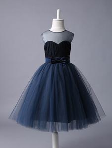 Платья для девочек из цветов Платье для девочек с длинным рукавом