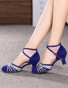 Zapatos De Fiesta De Ante Tiras Cruzadas Zapatos Baile Latino Negros