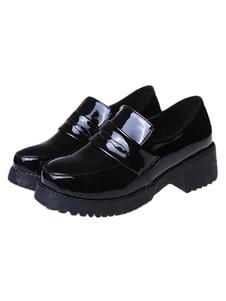 Девочек черные Обувь Лолита косплей костюмы  Хэллоуин
