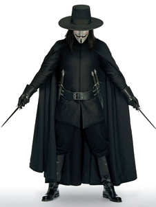 Carnaval V para Vendetta Guy Fawkes Halloween Cosplay Costume  Halloween