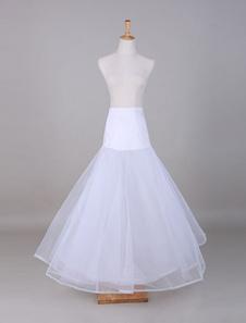 Enagua tul blanco de la boda de la enagua de línea a
