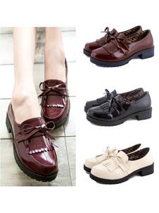 Бахромчатый туфли косплей девушки  Хэллоуин