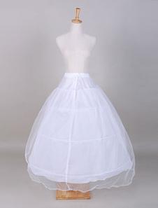 Saia de tule a linha branca casamento para a noiva