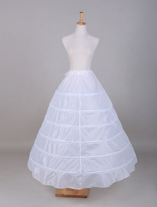 Tulle bianco Slip-abito da sposa sottoveste