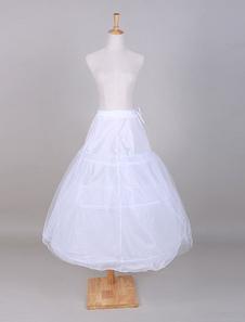Anágua de tule branco casamento a linha para noiva