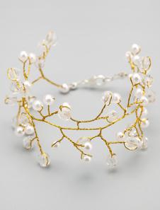 Золото металл нерегулярных жемчуг браслет для свадьбы