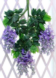 Glicínias curta cetim casamento decorações conjunto de 12