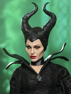 Carnaval Accesorio negro látex Maléfica Halloween