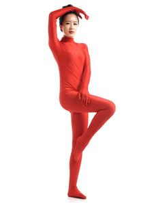 Zentai terno Vermelho Lycra Spandex  para mulheres Halloween