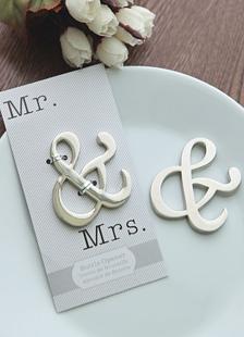 Signor & Mrs apribottiglie bomboniera