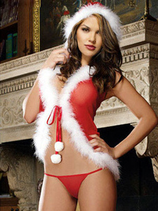 Двухцветная Луки акриловые Рождественский костюм для женщин