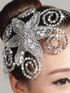 Disfraz Carnaval Accesorios para el cabello 2020 plata Rhinestone Ballet para las mujeres Carnaval