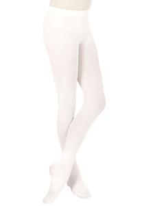 White Bellerina Lycra Spandex الباليه جوارب للنساء