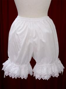 Pantaloncini di cotone Lolita pizzo bianco per le donne