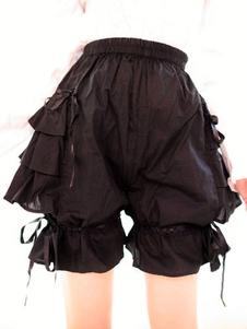 Луки черные оборками хлопок Лолита шорты для женщин