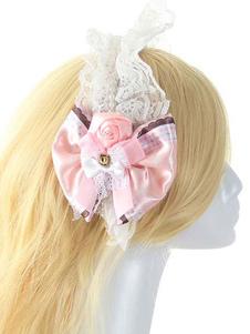 Fiore di pizzo multicolor archi accessori per capelli sintetico Lolita