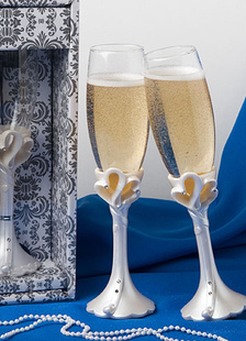 Resina Base casamento chique brindando vidro