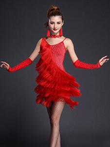 ba589ef3cc33 Rosso Abiti Da Ballo Latino Americano - Costumeslive.com by Milanoo