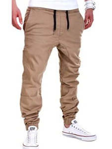 Pantaloni casual da uomo  2020 Khaki Men Pant Drawstring Ankle Band