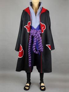 Naruto Uchiha Sasuke Akatsuki Five Pieces Set Halloween Cosplay Costume Halloween