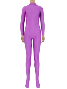 Disfraz Carnaval Slim lila Zentai ajuste traje de Spandex para mujeres Halloween Carnaval