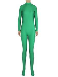 Disfraz Carnaval Verde Zentai moda Slim Fit mono Spandex para mujeres Halloween Carnaval