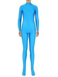 Тонкий голубой Зентаи подходит для женщин спандекс комбинезон Хэллоуин