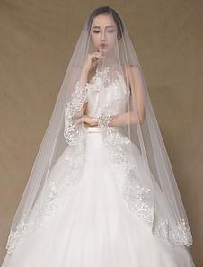 واحد-- الطبقة الزفاف الحجاب شيك زين شبه-- شير الرباط الحجاب الزفاف (طول 300cm)