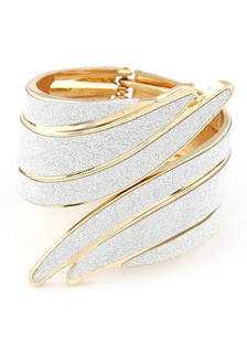 Asas de anjo pulseira dois tons pulseira de Metal para mulheres