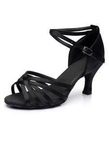 Zapatos De Fiesta Negros Con Cordones Zapatos De Baile Latino De Recorte