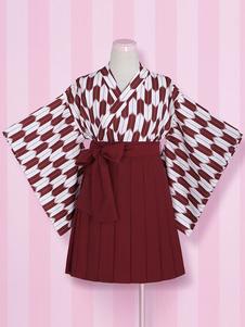 Costume Carnevale Kimono multicolor stampa pizzo poliestere Costume per le donne