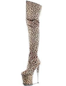 Сапоги с высоким голенищем Leopard печати сапоги для женщин