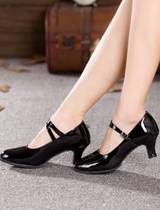 Scarpe da ballo nere Scarpe da ballo donna Scarpe da ballo latino con punta rotonda