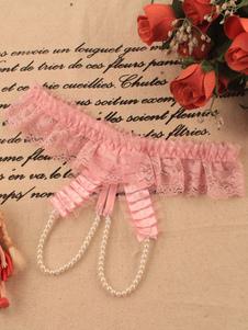 سراويل الوردي الدانتيل مثير دنة الملابس الداخلية للنساء