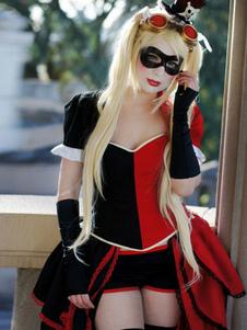 Carnevale Costume di Batman Arkham Asylum Harley Quinn cosplay Carnevale