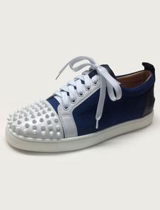 Заклепки кроссовки цвета блока зашнуровать обувь для мужчин