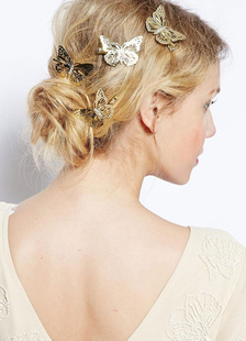 Mulheres Boho Headband Butterfly Hairpin Metal Hair Accessory