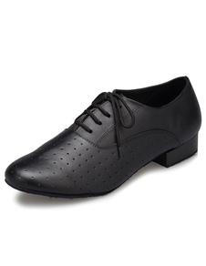 Черный латинский танец кружево обувь до пу танцевальная обувь для мужчин